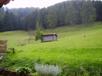Vor der Ferienwohnung Berchtesgaden Thannlehen