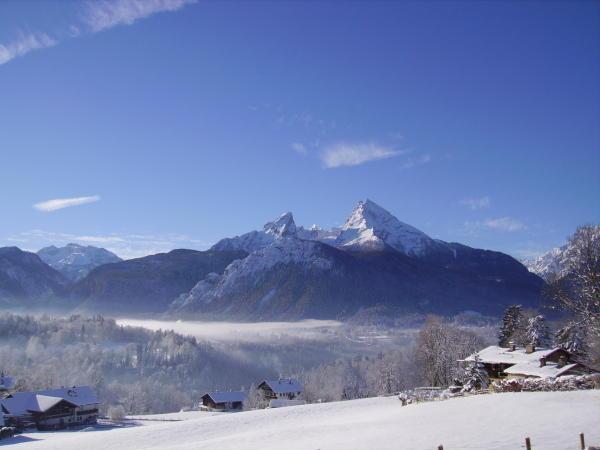 Watzmann im Winter. Wunderschöne Berglandschaft